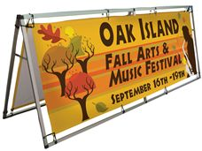 Custom Banner Stands for Outdoor Events from Signmax