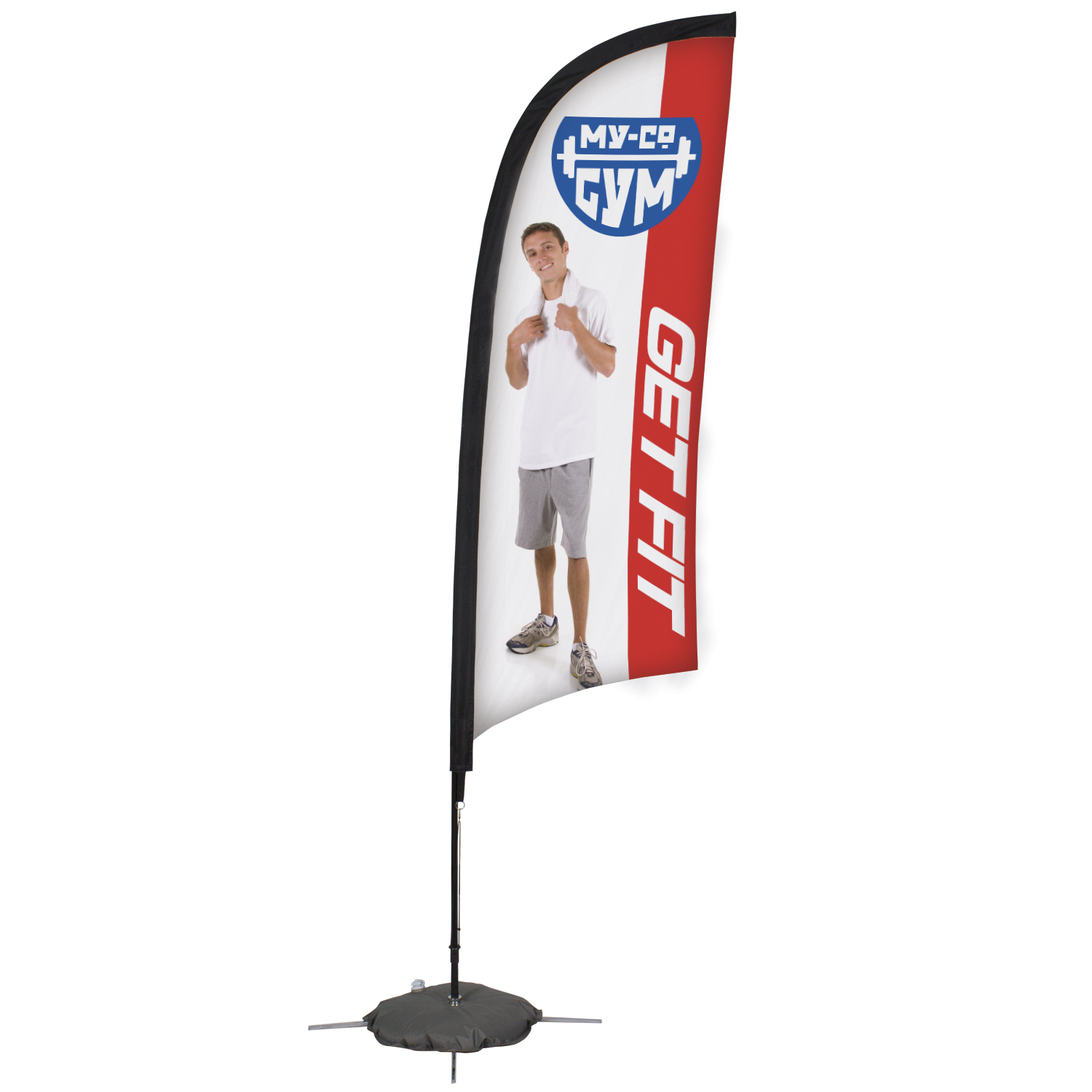 Custom Razor Flags for Sporting Events from Signmax