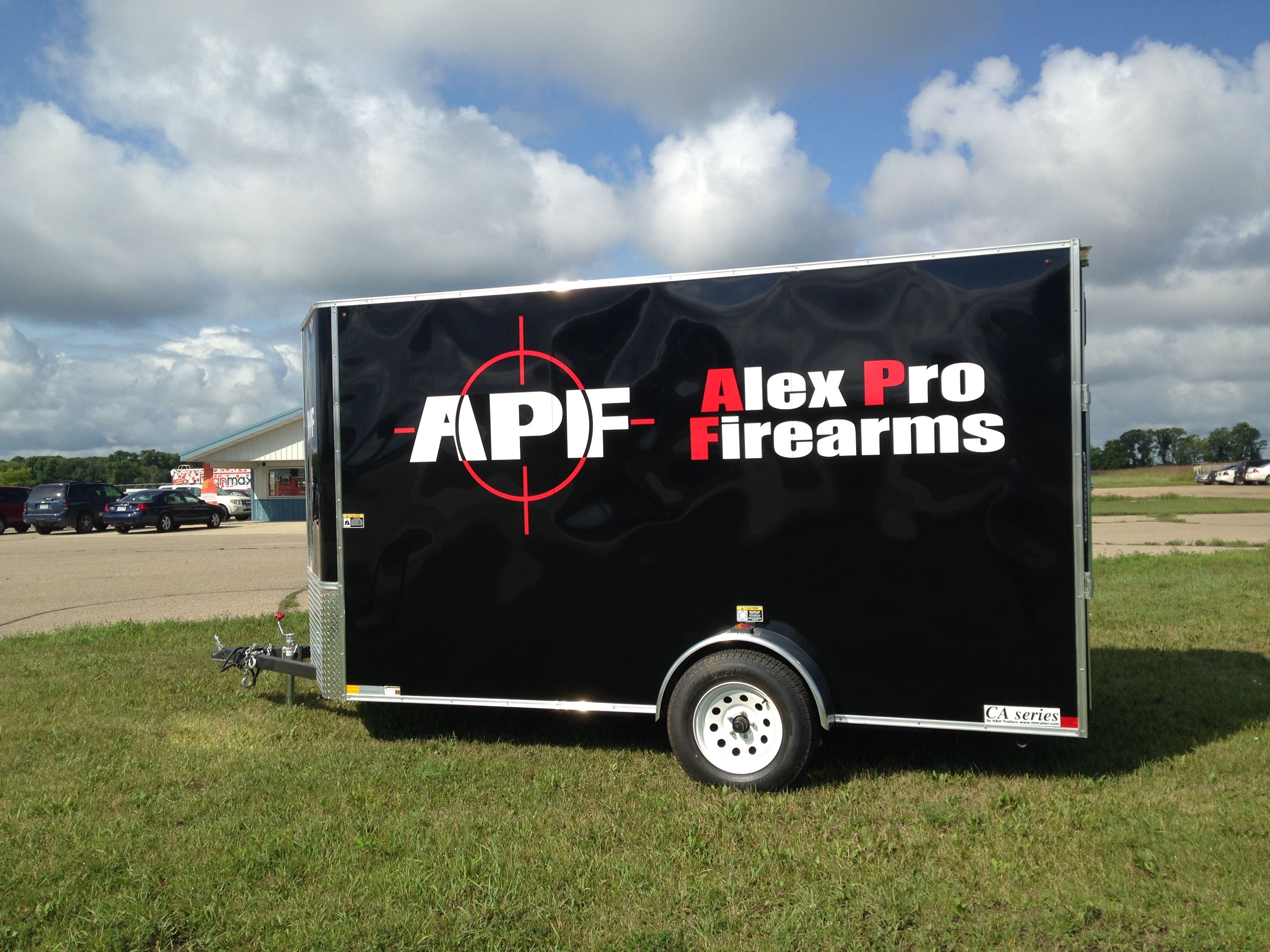 Alex Pro Firearms Trailer Wrap - Printed & Installed by Signmax