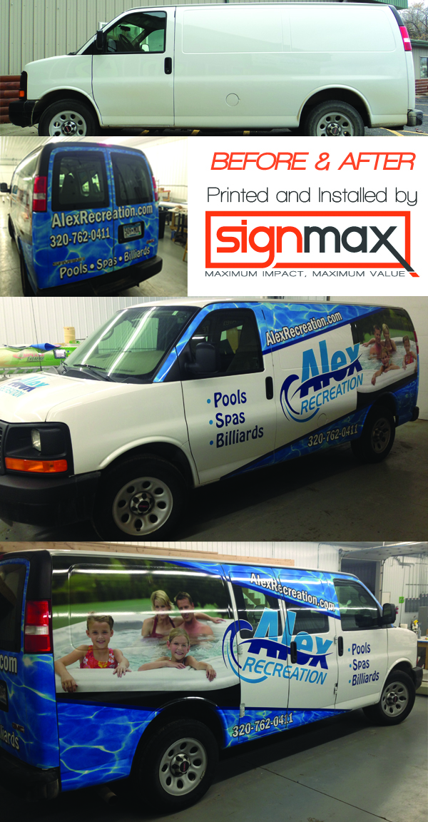 Alex Recreation Van Before and After | Signmax