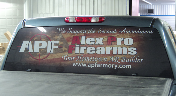 Custom Window Perf Design, Printing, and Installation from Signmax