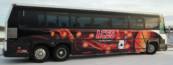Alexandria Aces Bus Wrap