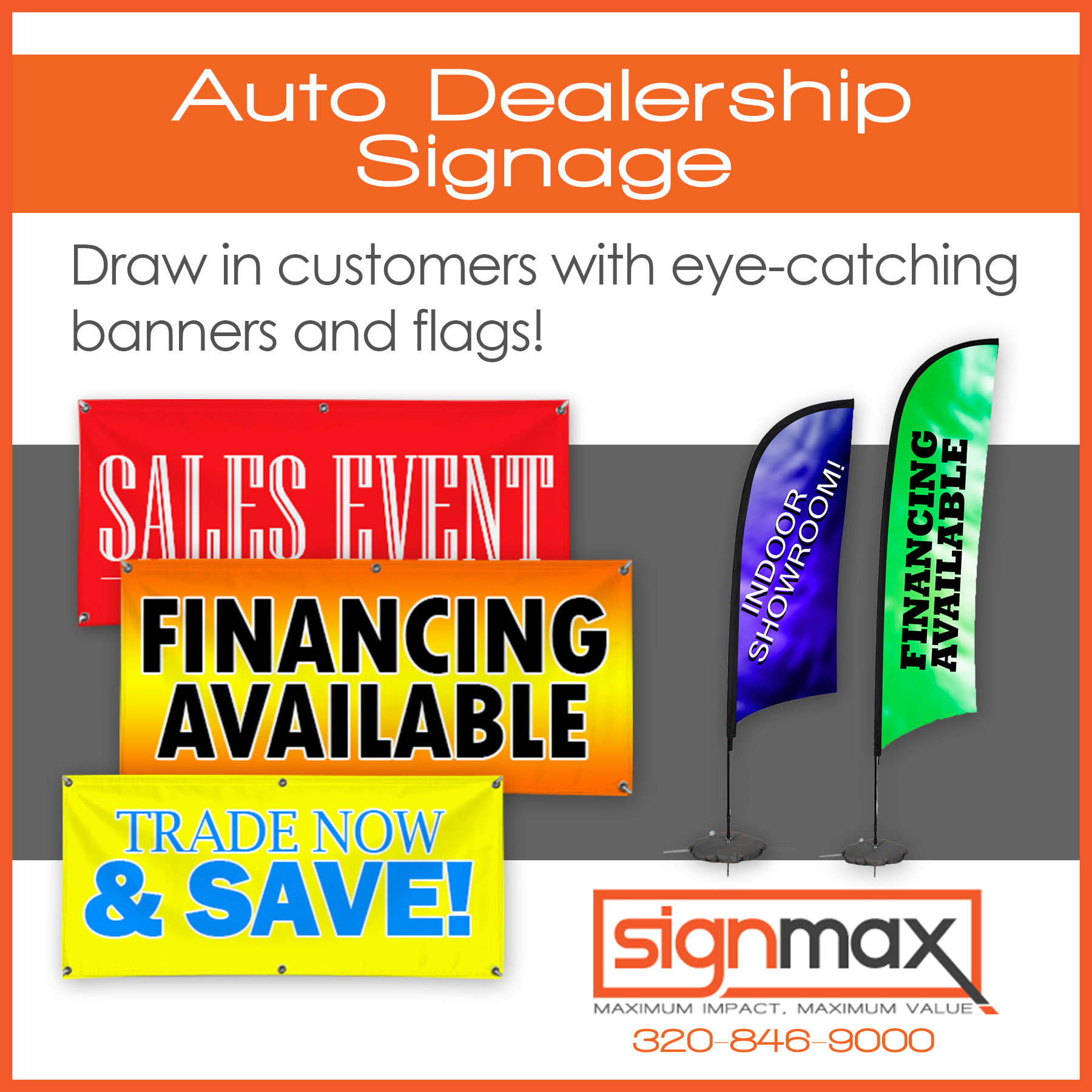 Auto Dealership Banners and Flags | Signmax.com