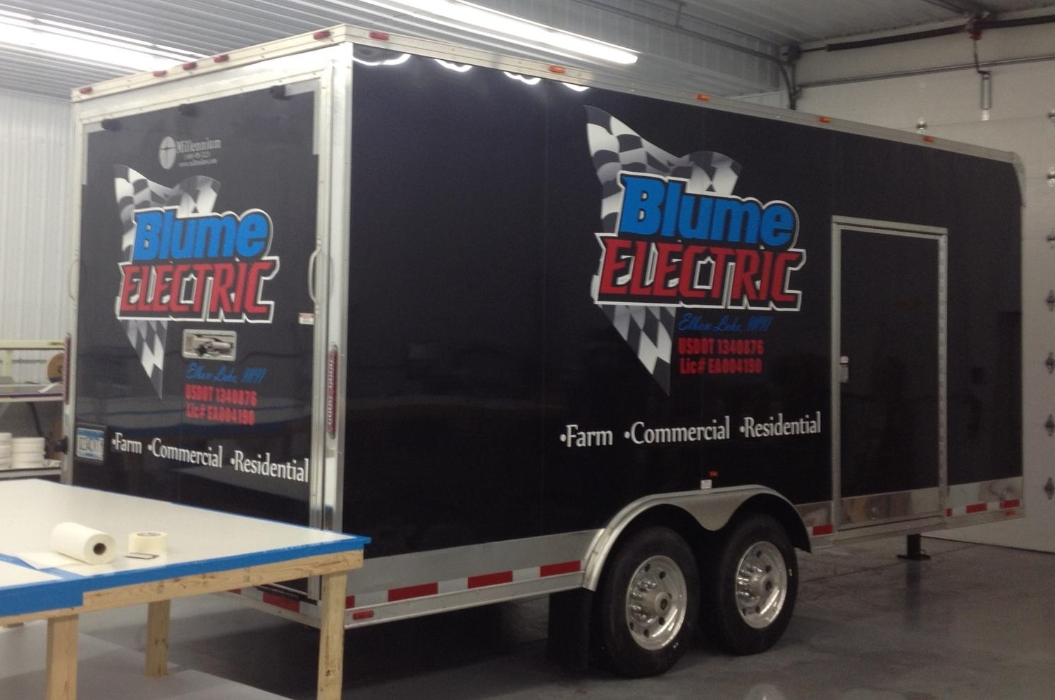 Blume Electric Trailer Decals