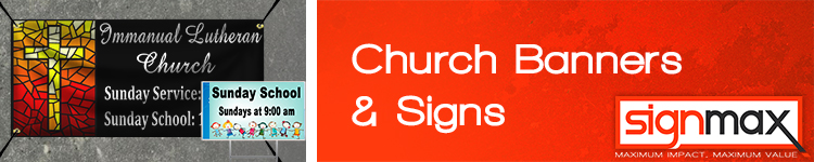 Custom Church Banners and Signs from Signmax