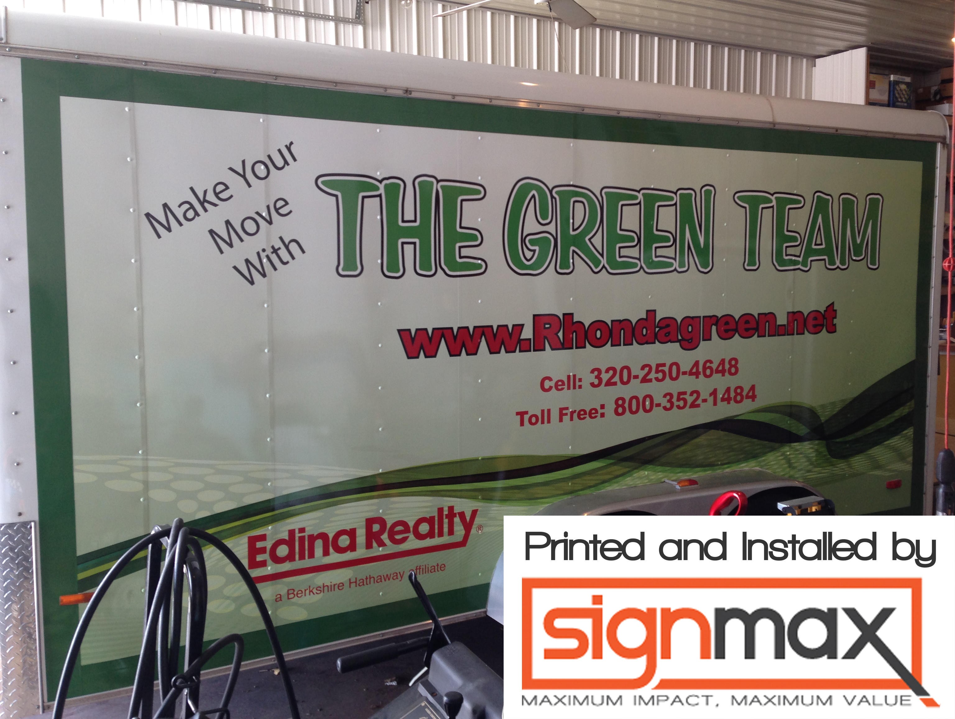 Edina Realty Trailer Wrap - Printed & Installed by Signmax