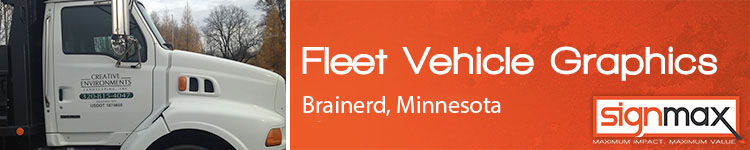 Custom Fleet Vehicle Decals from Signmax in Brainerd, MN