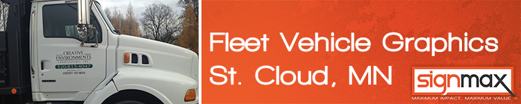 Custom Fleet Vehicle Decals from Signmax in St. Cloud, MN