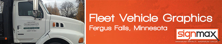 Custom Fleet Vehicle Decals from Signmax in Fergus Falls, MN