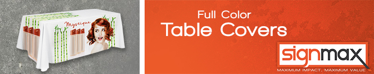 Full Color Table Covers | Signmax.com
