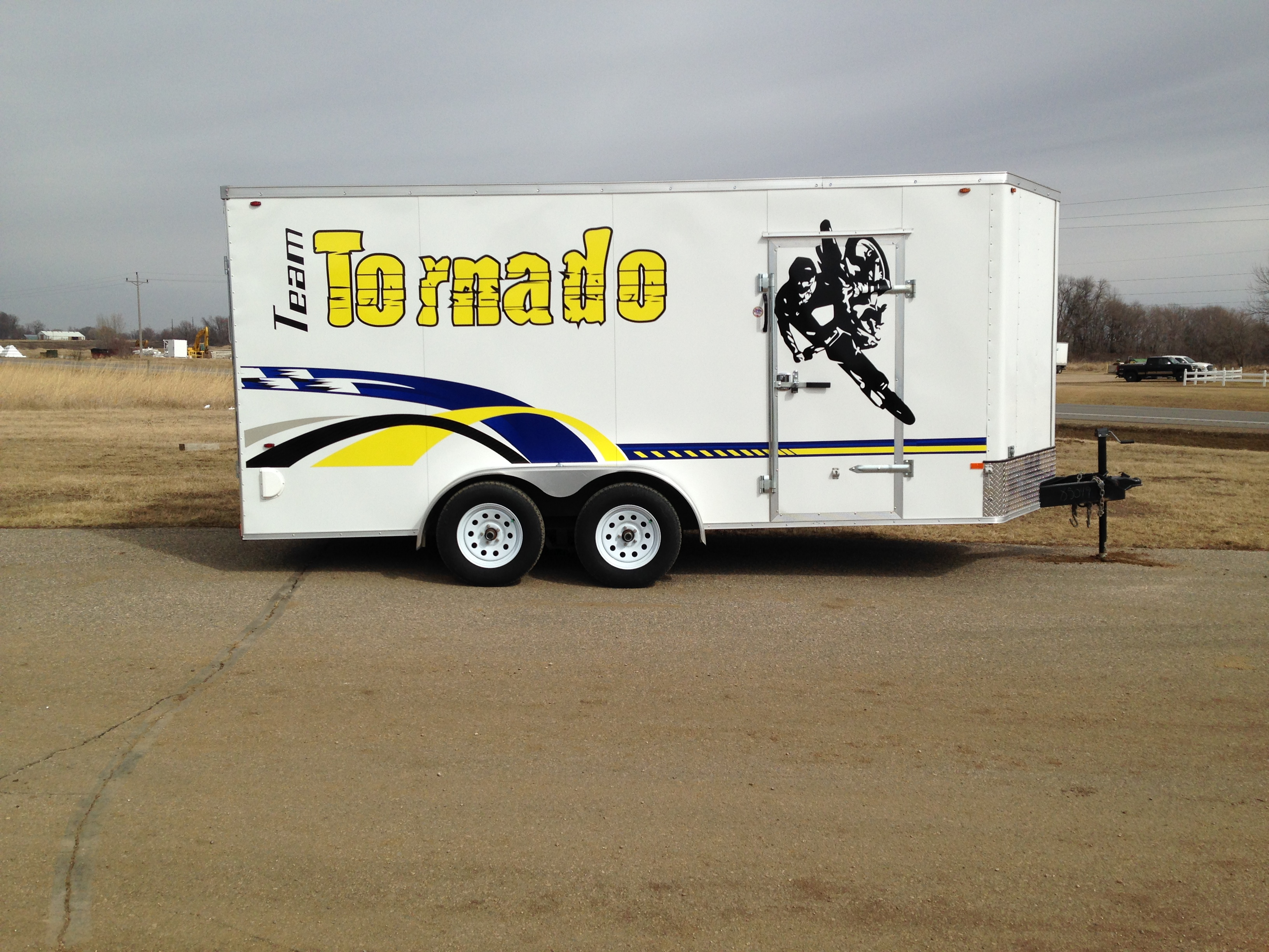 Custom Electric Company Trailer Wrap from Signmax