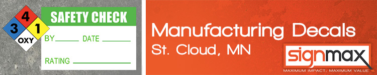 Vinyl Decals for St. Cloud Area Manufacturers from Signmax.com
