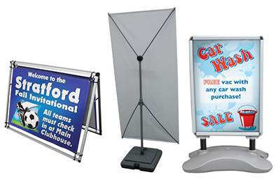 Outdoor Banner Stands and Displays from Signmax