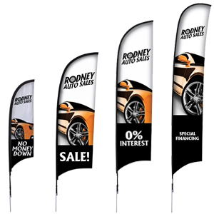 Custom Advertising Flags for Businesses