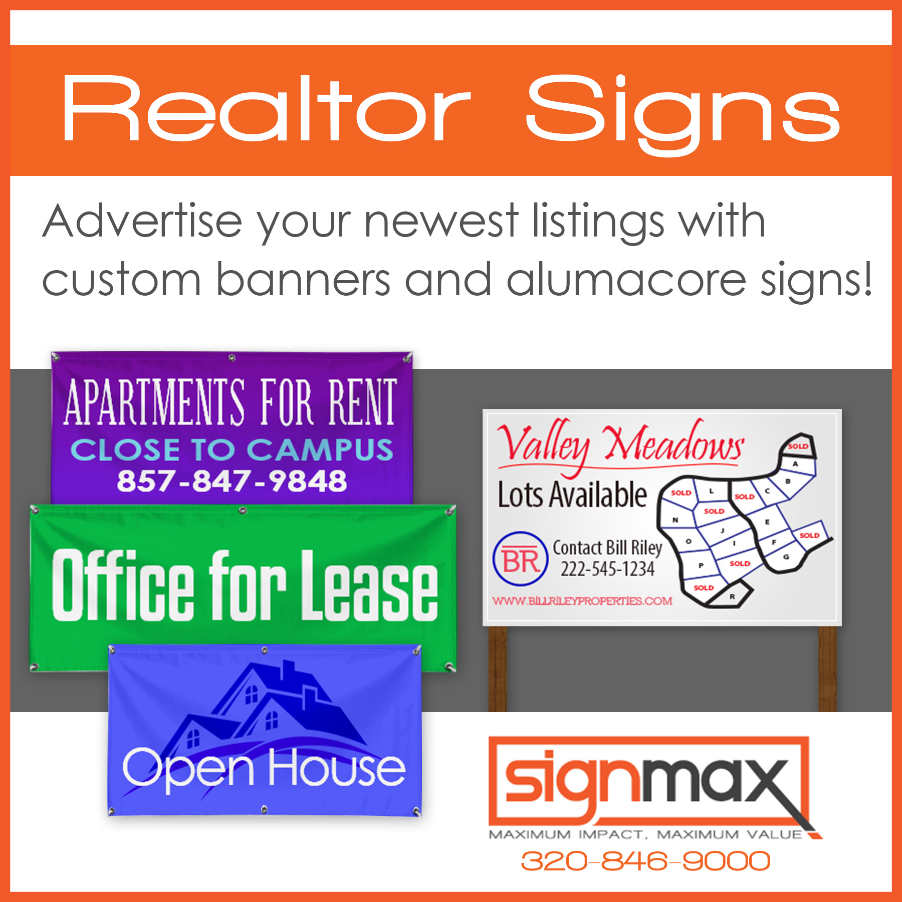 Real Estate Banners and Signs| Signmax.com