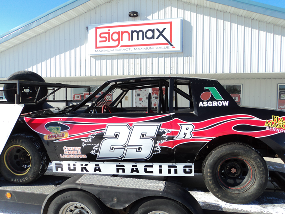 Custom Race Car Graphics from Signmax in Alexandria, MN