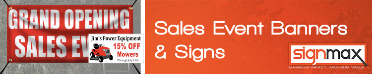 Custom Sale Banners and Signs from Signmax