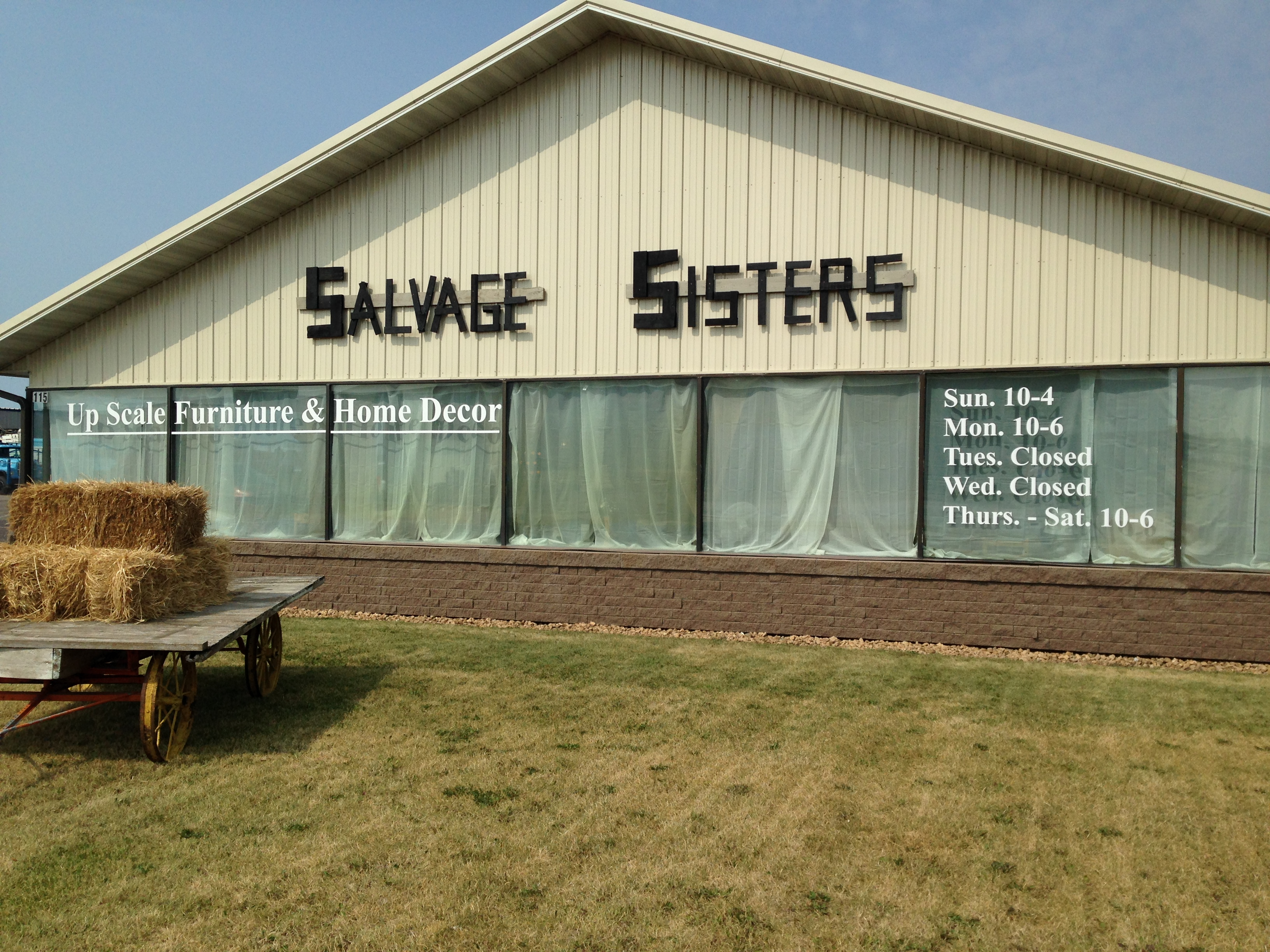 Salvage Sisters Window Decals | Signmax.com