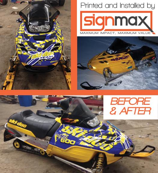 Custom Snowmobile Wraps | Signmax.com