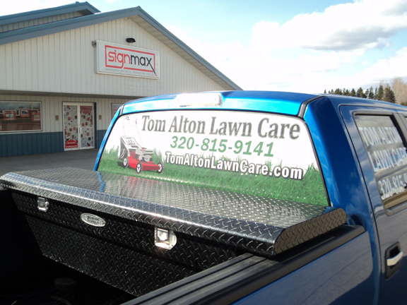 Tom Alton Lawn Care - Window Perf Print | Signmax.com