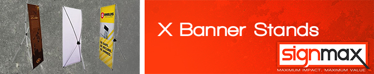 X Banner Stands from Signmax.com