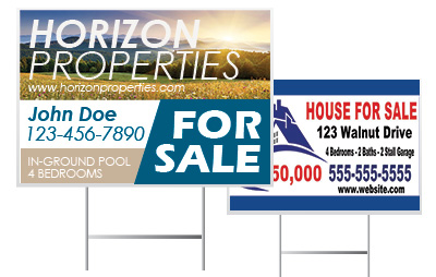 Custom Real Estate Yard Signs from Signmax